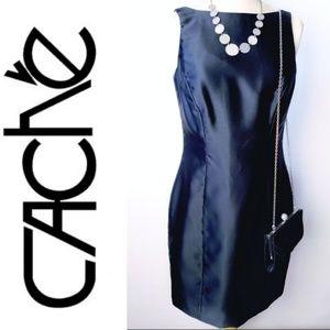 Cache Black Sheath Cocktail Dress